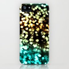 Bokeh Blue/Gold iPhone (5, 5s) Slim Case