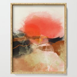 peachy sun Serving Tray