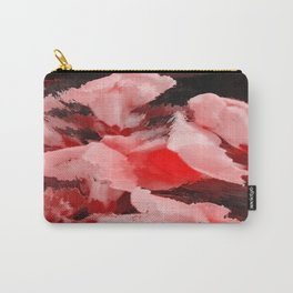 Red and Pink Snapdragons Floral Abstract Carry-All Pouch