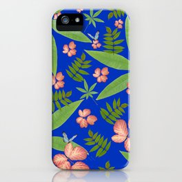 Leaves on Blue iPhone Case