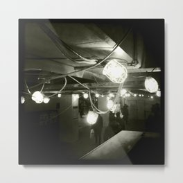 Lights in the subway Metal Print