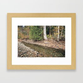 The Last Water before Winter Framed Art Print