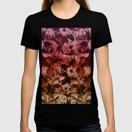 Beautiful spring flower garden in purple T-shirt