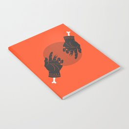red rune hands Notebook