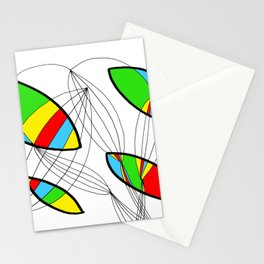 Organic objects - 4 colors Stationery Cards