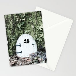 Door to a Tiny House at the Base of a Tree Stationery Cards