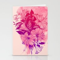 hibiscus Stationery Cards featuring Hibiscus by Magenda