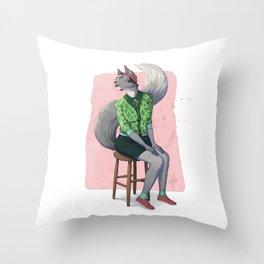 Catgirl Throw Pillow
