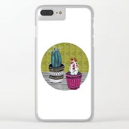 Cactus Collage by Veronique de Jong Clear iPhone Case
