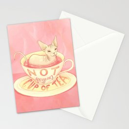 Not everyone's cup of tea - Sphynx Cat Stationery Cards