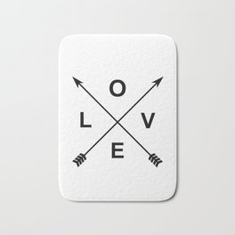 Love and Arrows Bath Mat
