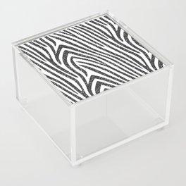 Black Glitter Zebra Stripes Acrylic Box