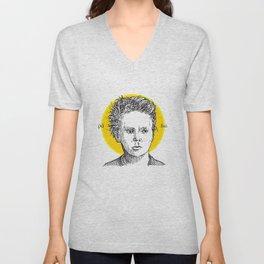St. Marie Curie Unisex V-Neck