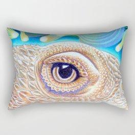 Dragon Star, Bearded Dragon Lizard Art Rectangular Pillow