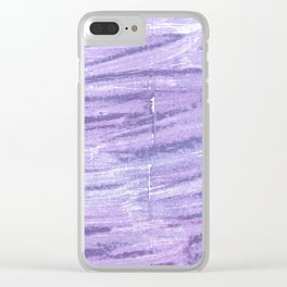 Soap abstract watercolor Clear iPhone Case