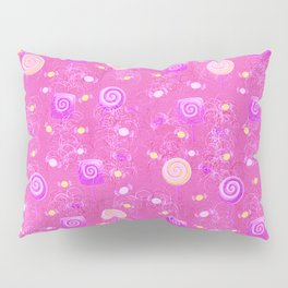 Lollipop And Candy Pink and Yellow Confection Pillow Sham