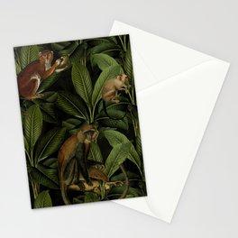 Monkey Vintage Botanical Night Jungle Garden Stationery Cards