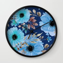 FLOWERS WATERCOLOR 26 Wall Clock