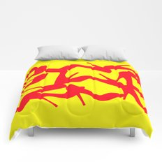 Shoe Fetish (Version 2) in Red and Yellow by Bruce Gray Comforters