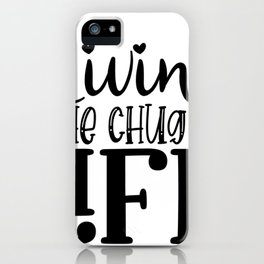 Water Bottle Designs Living the Chug Life iPhone Case
