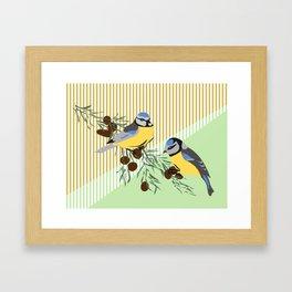 two birds in harmonie Framed Art Print
