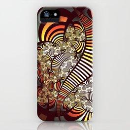 Vintage fractal 1 iPhone Case