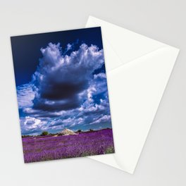 """Beautiful purple landscape with clouds in """"La Provençe, France""""! Stationery Cards"""