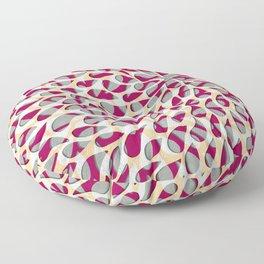 Organic Petals Pattern Magenta Gray Floor Pillow