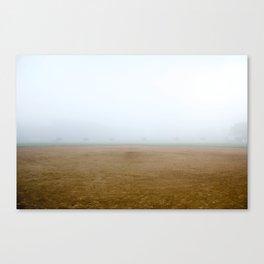 Baseball Field on a Foggy Morning Canvas Print