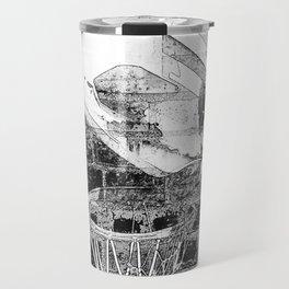 Black and white basketball artwork Travel Mug