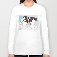 tegan and sara Long Sleeve T-shirts featuring Tegan and Sara by Kim Leutwyler