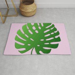 Palm Tree Leafy (pink) Rug