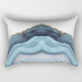 Light Blue Agate Rectangular Pillow