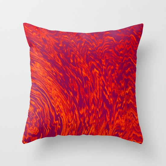 Electric Wave Throw Pillow