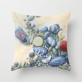 Beach Front II Throw Pillow