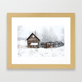 Abandoned Cabin Framed Art Print