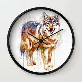 Alpha Wolf Wall Clock