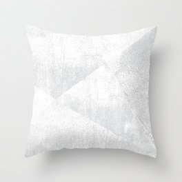 White and Gray Lino Print Texture Geometric Throw Pillow