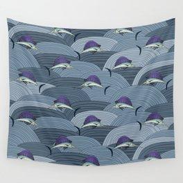 Swordfish Espadon   Pattern Art Wall Tapestry