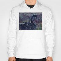 black swan Hoodies featuring Black swan by jbjart