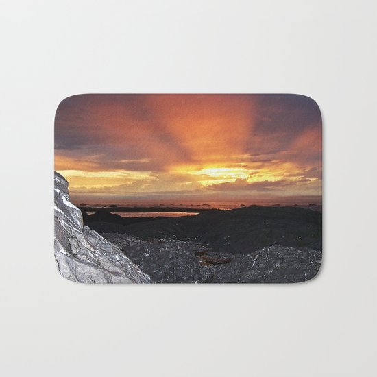 Sunset on the Rocks Bath Mat