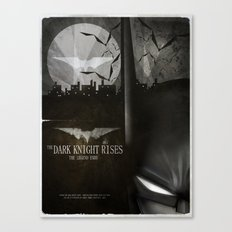 dark knight rises movie fan poster Canvas Print