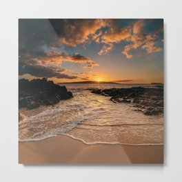 Sunset at Secret Beach Metal Print
