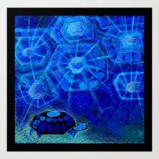 Origami Tortois 4 Art Print