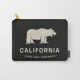 California: Leave Only Pawprints Carry-All Pouch