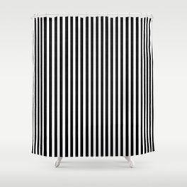 Home Decor Striped Black and White Shower Curtain