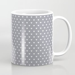 Mini Hearts on Grey Coffee Mug