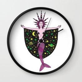 Mermaid of the night Wall Clock