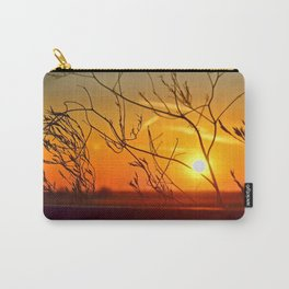 Sunset through the bushes Carry-All Pouch