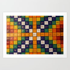 Tibetan Word Game Art Print
